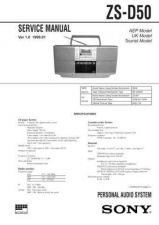 Buy Sony ZS-D50[2] Service Manual by download Mauritron #241969