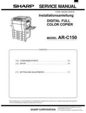 Buy Sharp ARC150-C160-C250 Service Manual by download Mauritron #208174