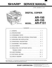 Buy Sharp AR-F152 Service Manual by download Mauritron #231018
