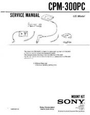 Buy Sony CPM-300PC Manual-1663 by download Mauritron #228421