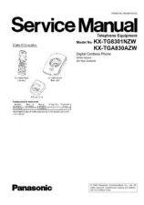 Buy Panasonic KX-TG8321FRB KX-TG8321FRW KX-TG8322FRB KX-TG8322FRW KX-TGA830EXB KX-TGA830E