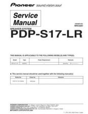 Buy Pioneer PDP-S15-LR Manual by download Mauritron #227675