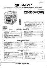 Buy Sharp CDS200H -DE-FR(1) Service Manual by download Mauritron #208666
