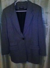 Buy Women's Gray Liz Claiborne Classic Blazer Size 10