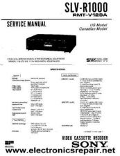 Buy Sony SLVSF900 Operating Guide in French by download Mauritron #233131