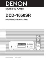 Buy DENON DCD-1650SR Manual by download Mauritron #229501
