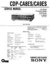 Buy Sony CDP-CA8ES.CA9ES Service Manual by download Mauritron #237310