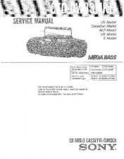 Buy Sony CFD-DW83MKii Service Manual by download Mauritron #238796