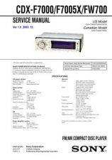 Buy Sony CDX-F7000 Service Manual by download Mauritron #238575