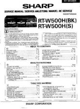 Buy Sharp RTW500H -DE-FR(1) Service Manual by download Mauritron #209525