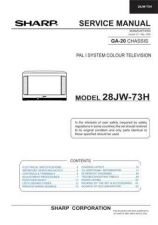Buy Sharp 28JW73H (1) Service Manual by download Mauritron #207561