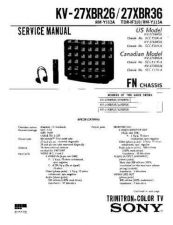 Buy Sony KV-27XBR26 Service Manual. by download Mauritron #242267