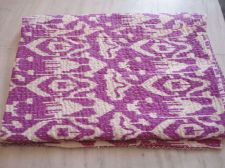 Buy indian kantha cotton fabric iket print quilt rally queen size gudari bedspeard