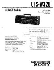 Buy Sony CFS-W320 Service Manual by download Mauritron #238981