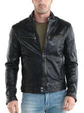 Buy New Men Lambskin Leather Jacket Male Motorcycle Biker Coat Size XS S M L XL K745