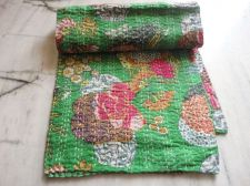 Buy hand made cotton fabric kantha quilts rally queen size gudari bedspread sheet