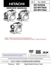 Buy Hitachi DZMV780MA Service Manual by download Mauritron #262056