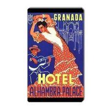 Buy Granada Hotel Retro Travel Art Souvenir Vinyl Magnet