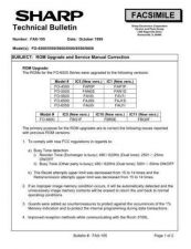 Buy SHARP FAX182 TECHNICAL BULLETIN by download #104357