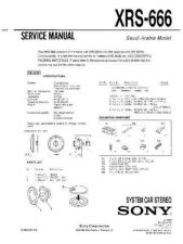 Buy Sony XRS-666 Service Manual by download Mauritron #233525
