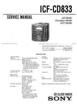 Buy Sony ICF-CD833 Service Manual. by download Mauritron #241597
