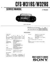 Buy Sony CFS-W319S Service Manual by download Mauritron #238980