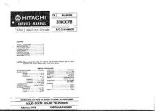 Buy Hitachi 31KX6B Service Manual by download Mauritron #262485