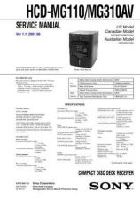 Buy Sony HCD-MDX10 Service Manual by download Mauritron #241223