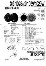 Buy Sony XS-1028MK2-1029-1029W Service Information by download Mauritron #238395