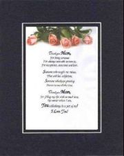 Buy Heartfelt Poem for Mother - Thank You Mom . . .11x14 Blk-OnBlk Dbl-Bevelded Mat