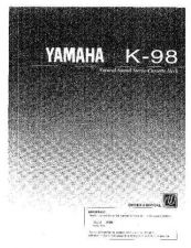 Buy Yamaha K98 Operating Guide by download Mauritron #248257