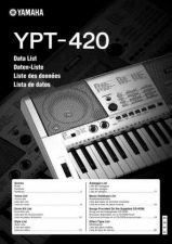 Buy Yamaha YPT420 EN DE FR ES DL A0 Operating Guide by download Mauritron #205664