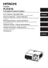Buy Hitachi PJTX10WAU_IT Service Manual by download Mauritron #263822