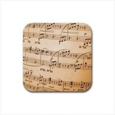 Buy Sheet Music Notes Set Of 4 Square Rubber Drink Coasters