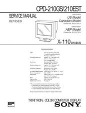 Buy Sony CPD-210GS210EST Service Manual by download Mauritron #239276