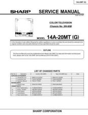 Buy Sharp 14A20MT (1) Service Manual by download Mauritron #207327