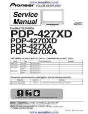 Buy Pioneer pdp-427xa-4 Service Manual by download Mauritron #234770