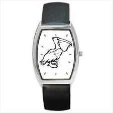 Buy Pelican Unisex Black and White New Barrel Wrist Watch