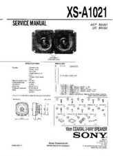 Buy Sony XS-A1021 Service Manual. by download Mauritron #246329