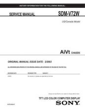 Buy Sony SDM-V72W Service Manual by download Mauritron #232370