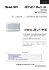 Buy Sharp 28LF94E (1) Service Manual by download Mauritron #207575