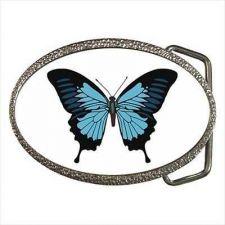 Buy Blue Butterfly Womens Ladies Belt Buckle