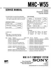 Buy Sony MHC-W55 Manual by download Mauritron #229684