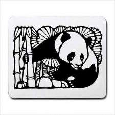 Buy Panda Bear Chinese Art Computer Mouse Pad