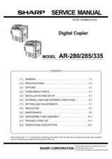 Buy Sharp AR280-285-335 SM DE Service Manual by download Mauritron #208106