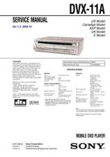 Buy Sony DVX-11A Service Manual by download Mauritron #240548