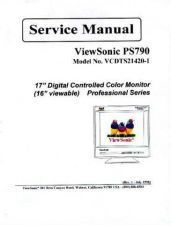 Buy Fisher. Viewsonic PS790 VCDTS21420-1.. Service Manual by download Mauritron #