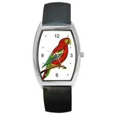 Buy Red Macaw Parrot Art Unisex New Wrist Watch