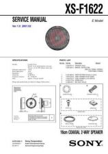 Buy Sony XS-F1622 Service Manual. by download Mauritron #246353