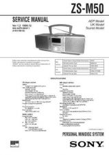 Buy Sony ZS-M50 Service Manual by download Mauritron #241979